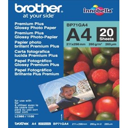 Papir BROTHER BP71 A4 260g gloss (20)