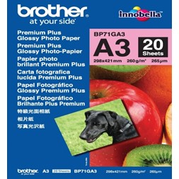 Papir BROTHER BP71 A3 260g gloss (20)