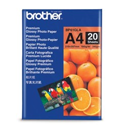 Papir BROTHER BP61 A4 190g gloss (20)