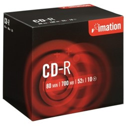CD-R IMATION 700MB 52X jewelcase (10)