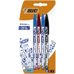 Kulepenn BIC Cristal Decor 1mm (4)