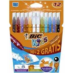 Fiberpenn Bic Kids Colour & Erase  (12)