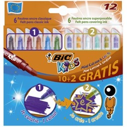 Fiberpenn BIC Kids Colour & Create (12)