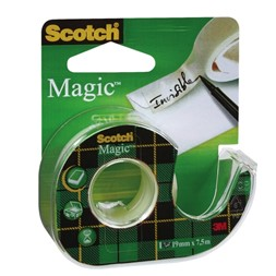 Tape SCOTCH® Magic 19mmx7,5m m/dispenser