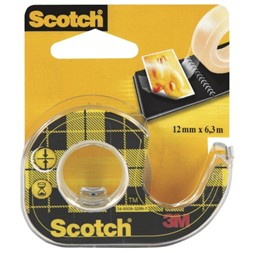 Tape SCOTCH® dobbelts. 12mmx6m m/disp