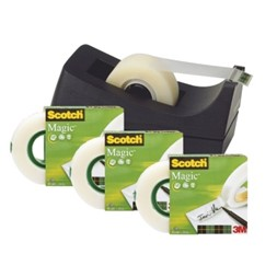 Tape SCOTCH® Magic 810 19x33 4pk m/disp C38